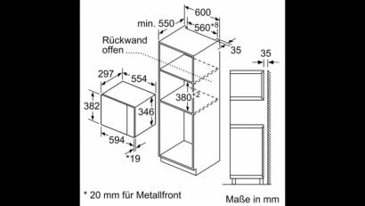 Kuchenka mikrofalowa do zabudowy Bosch BFL 524MW0