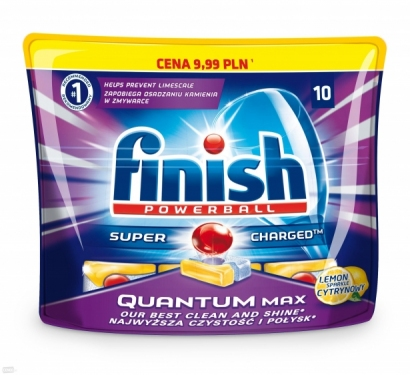 Finish tabletki do zmywarki 10 Quantum Max lemon