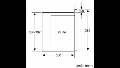 Kuchenka mikrofalowa do zabudowy BFL 554MW0
