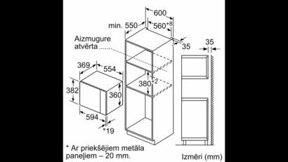 Kuchenka mikrofalowa do zabudowy  BFL 554MS0